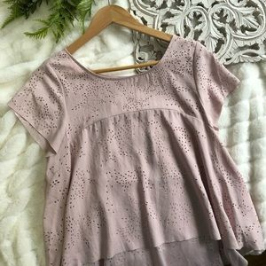 Free People   Soft Pink Blouse M